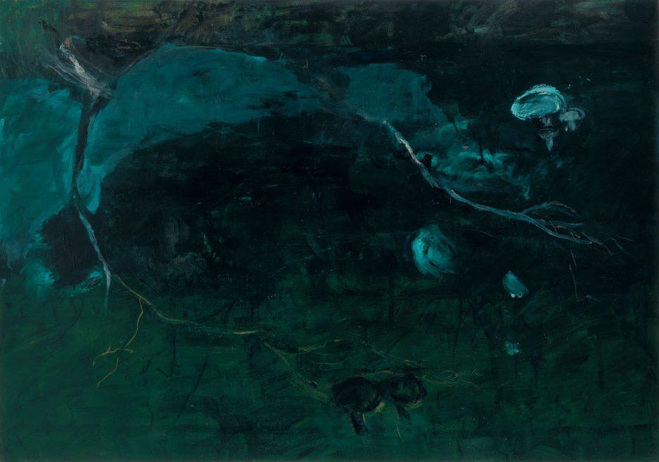 Grünes Pilzbild, 1990