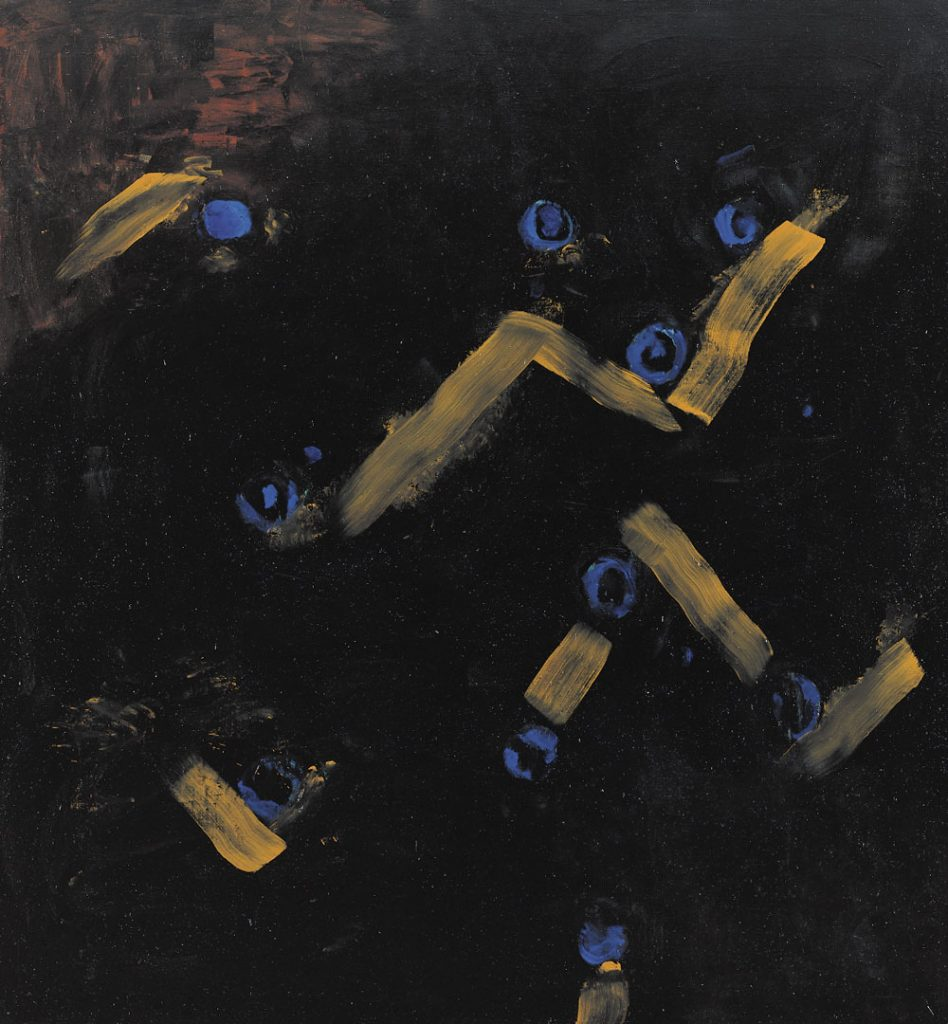 Schwarz IV - Blaubeeren, 1992